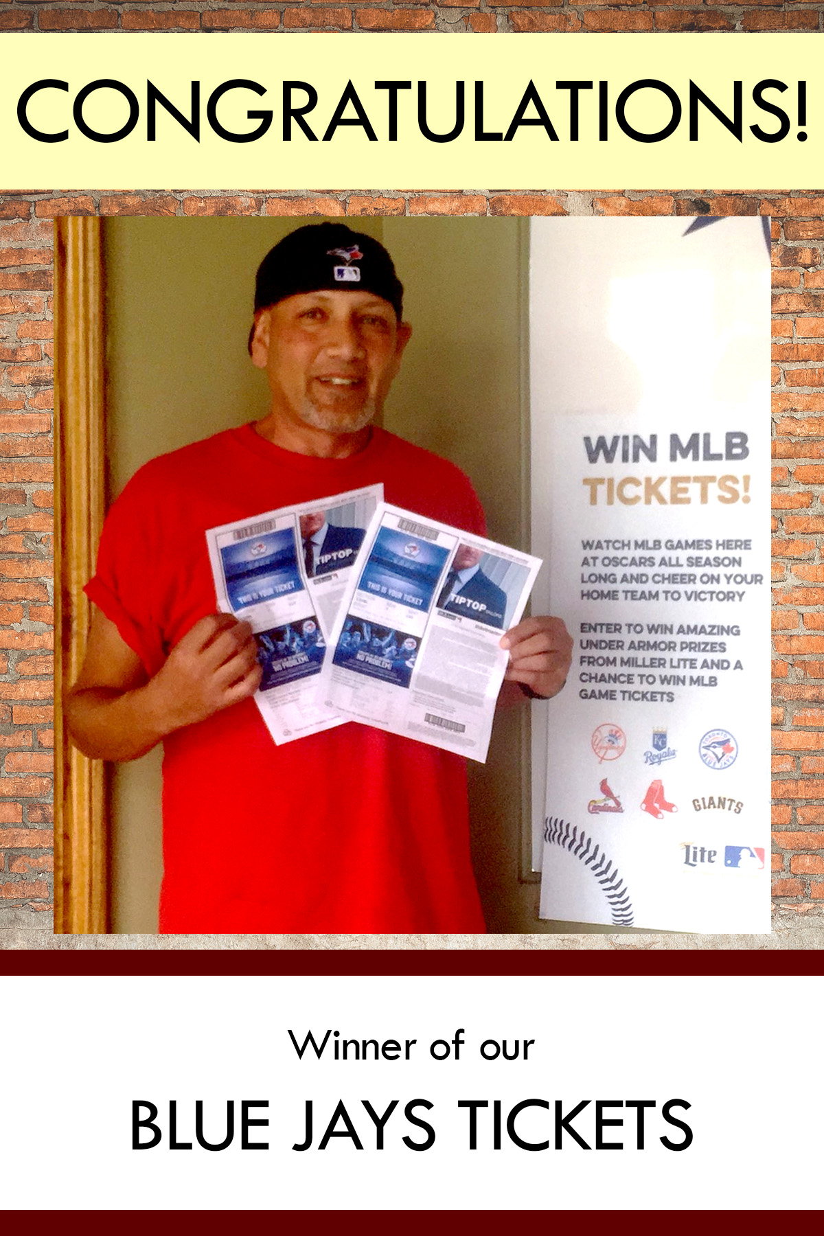 Congratulations Winner of Our Blue Jays Ticket
