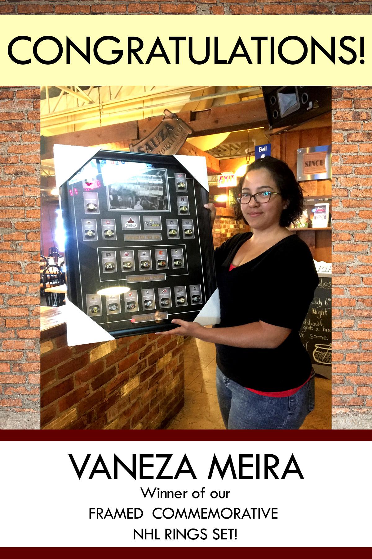 Congratulations Vaneza Meira!